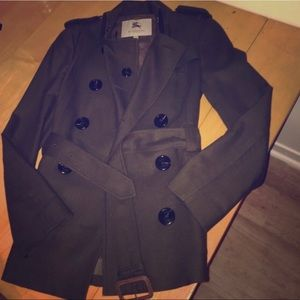 Burberry Olive Green trench coat size 2